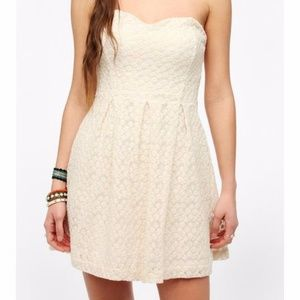 Urban Outfitters Cooperative white strapless dress